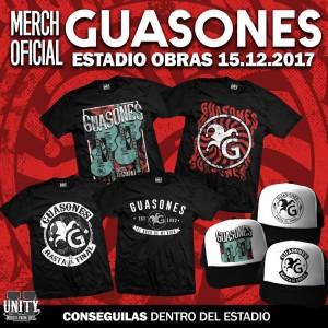 Guasones Estadio Obras Merch Oficial 2017