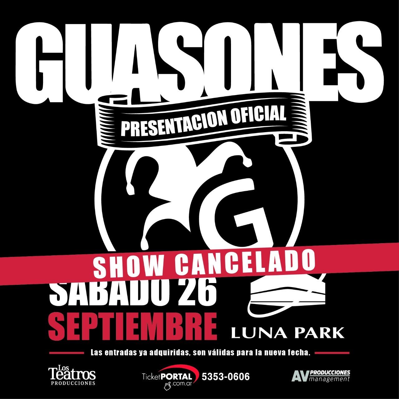 Guasones Luna Park Cancelado